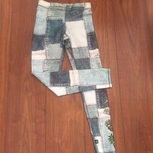 Terez fun denim look leggings like new XS